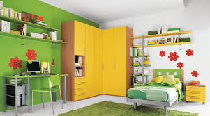 Small Children Bedroom Ravishing Girls Room Design With Yellow Cabinets And Green Learn