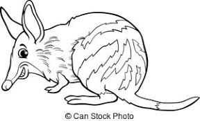 Small Picture Vector Clip Art of wombat animal cartoon coloring book Black and