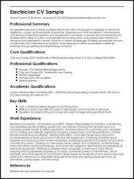 Sample Of Electrician Resumes Resume Examples Electrician Resume Examples Job Resume