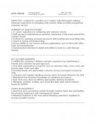 Mcdonalds Cashier Resume 19 Best Cashier Resume Sample Templates Wisestep