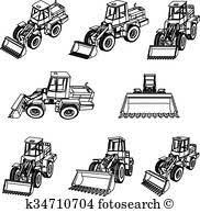 工事用重機 クリップアートベクトル 73 工事用重機 Epsイメージ