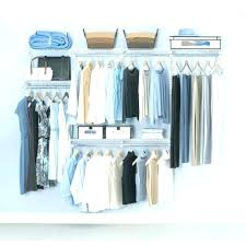 easy track closet system organizer hanging rod deluxe