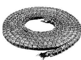 metal hip hop single row iced diamond studded cz cubic zirconia 30 necklace