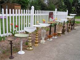 furniture upcycle ideas. Turn An Old Lamp Into A Bird Bath By Adding Bowl On Top. Furniture Upcycle Ideas