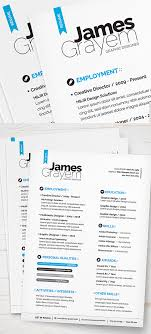 Trendy Resume Templates 24 Free Elegant Modern CV Resume Templates PSD Freebies 15