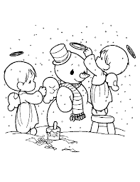 Precious Moments Christmas Coloring Pages For Kids And For Adults