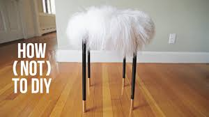 how not to diy a faux fur chair