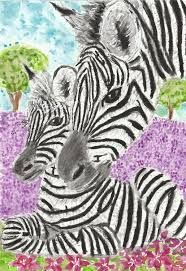 zebras watercolor painting