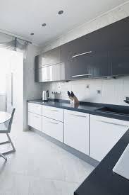 modern black white. Black And White Kitchen Cabinets Modern