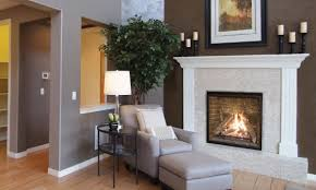 enviro q4 most realistic gas fireplace white mantle