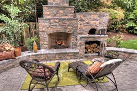 backyard pizza oven plans outdoor fireplace plans patio traditional patio idea in with a fire pit