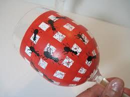 picnic ants painted wine glass 33 00 via
