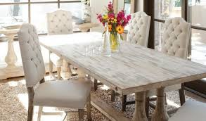 miraculous distressed white dining table in luxury