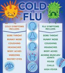 Cold Symptoms Vs Flu Symptoms Chart Cold Vs Flu Coolguides