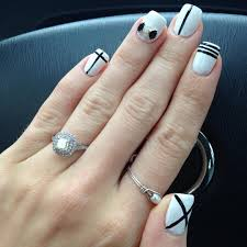Pictures Of Black And White Nail Designs 27 White And Black Nail Art Designs Ideas Design Trends