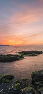 Dalian, sea, coast, stones, moss ...