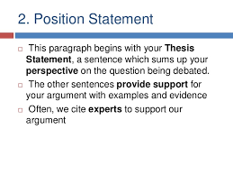 argumentative essays 8 2 position statement