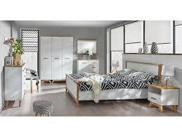 Schlafzimmer Set SVEN 02 (9-tlg.) Kiefer Weiß/ Eiche Natur, 1.1