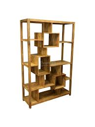 unique furniture pieces. Ambala Cube Light Mango Wood Multi Shelf Display Unit / Bookcase Unique Furniture Pieces T