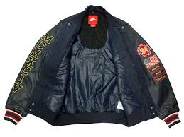 nike team usa basketball destroyer leather jacket navy dark blue 612902 473