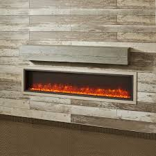the outdoor greatroom company 72 inch gallery non combustible linear washed cedar supercast wood