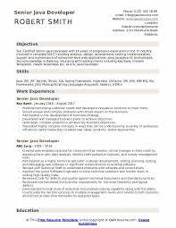 Certified Developer Resume Senior Java Developer Resume Samples Qwikresume