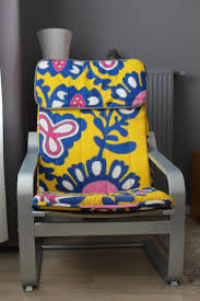 diy bold summer cover for ikea poang chair via s