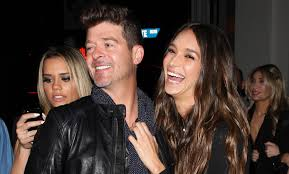 alan thicke robin thicke side by side. Fine Side Robin Thicke Celebrates 40th Birthday With Girlfriend April Love Geary By  His Side  Geary  Just Jared To Alan Side U
