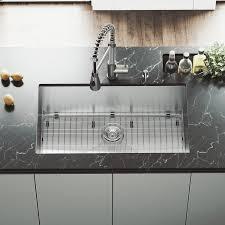 Vigo 32 Undermount Stainless Steel Kitchen Sink Grid And Strainer