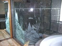 etched shower door glass decals doors