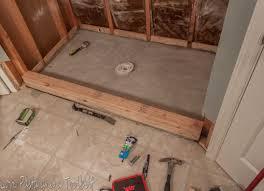 installing bathroom floor tile elegant diy tile shower before and after love pasta and a