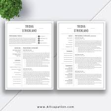 2 Page Resume Template Professional Resume Template CV Template Cover Letter 100 100 100 2