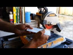 how to cut glass tiles with a dewalt wet saw