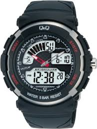 buy q q standard dual time analog digital black dial men s watch buy q q standard dual time analog digital black dial men s watch m012 002 online at low prices in amazon in