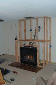 the framing fireplace and drywall went up relatively quickly