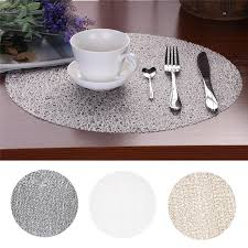 details about 1pcs eva round placemats insulation kitchen bowl tableware pad mat dining room