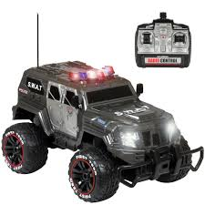 best choice products 1 12 scale 27mhz remote control police swat truck rc car w