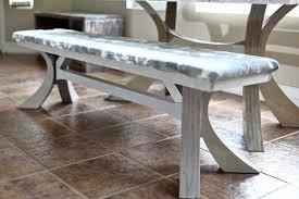 diy dining table bench with curved legs