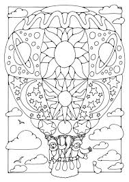 Hot air balloon with flags coloring pages to color, print and download for free along with bunch of favorite air balloon coloring page for kids. Free Printable Hot Air Balloon Coloring Pages For Kids Free Coloring Pages Coloring Pages Printable Coloring Pages