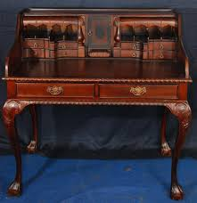 chippendale style gany writing desk with compartments ball claw feet