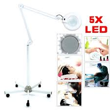 floor standing magnifier lamp floor stand magnifier lamp light led magnifying glass wheel
