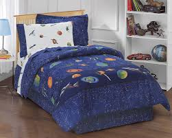 com dream factory outer space satellites boys comforter set blue twin home kitchen