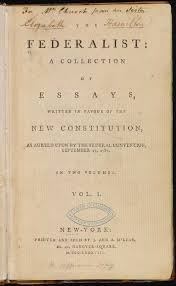 the federalist a collection of essays this copy of the federalist a collection of essays belonged to thomas jefferson