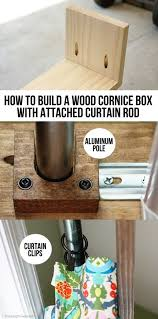 how to build a wood cornice box with attached curtain rod tutorial at