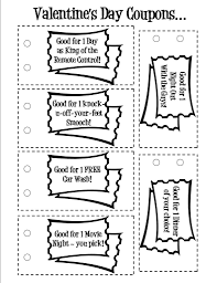 Coupon Templates Free FREE Printable Valentine's Day 'Love' Coupons Wish You Were In My 18
