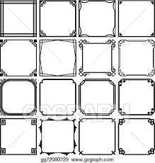 Simple frame design Corner Simple Frames Gograph Vector Art Simple Frames Clipart Drawing Gg72080729 Gograph