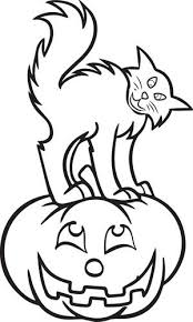Small Picture Free Printable Halloween Cat Coloring Page for Kids