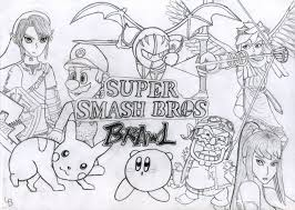 Small Picture Super Smash Bros Melee Coloring Pages Coloring Pages Ideas