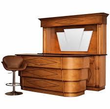 art deco era furniture. art deco style front and back bar era furniture