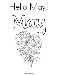 Small Picture Hello May Coloring Page Twisty Noodle